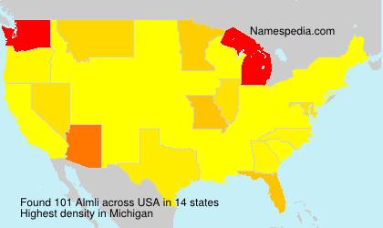 Familiennamen Almli - USA