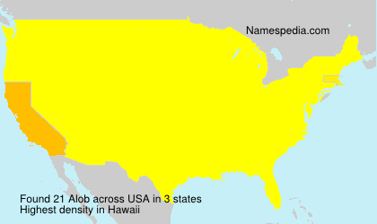 Surname Alob in USA