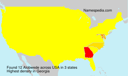 Surname Alobwede in USA