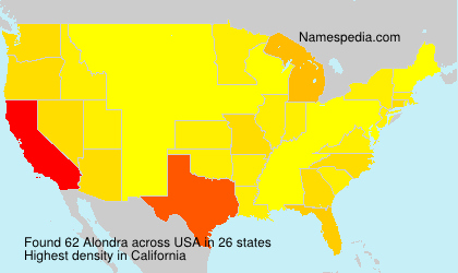 Surname Alondra in USA