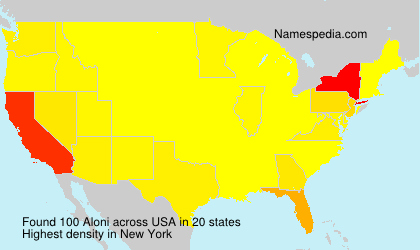 Surname Aloni in USA