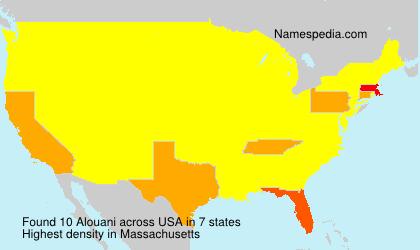 Familiennamen Alouani - USA