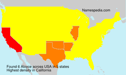 Surname Aloyce in USA
