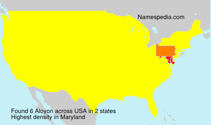 Surname Aloyon in USA
