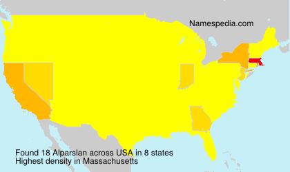 Surname Alparslan in USA