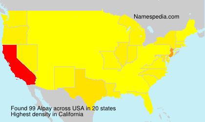 Familiennamen Alpay - USA