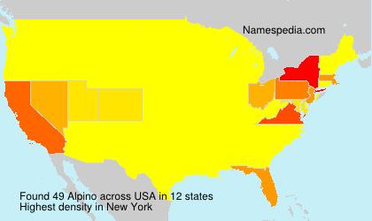Surname Alpino in USA