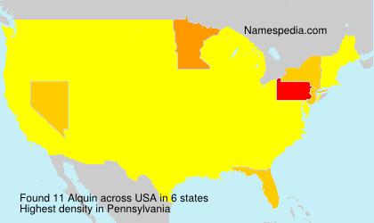 Familiennamen Alquin - USA
