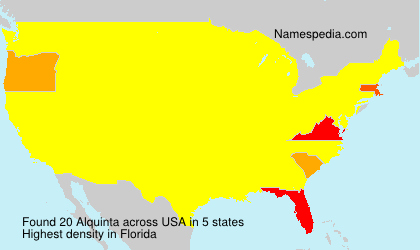 Surname Alquinta in USA