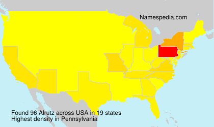 Surname Alrutz in USA