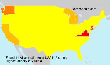 Surname Alsamarai in USA