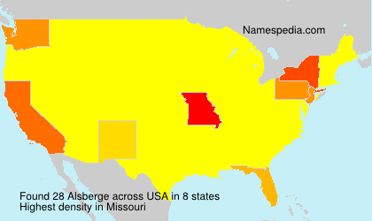 Surname Alsberge in USA
