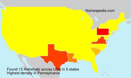 Surname Alshehabi in USA