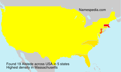 Surname Alstede in USA