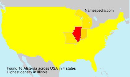 Surname Alsterda in USA