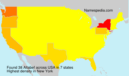 Surname Altabef in USA