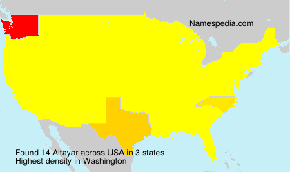 Surname Altayar in USA
