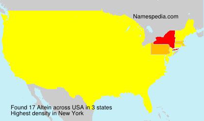Familiennamen Altein - USA