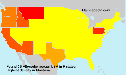 Surname Alteneder in USA