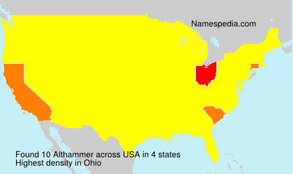 Surname Althammer in USA