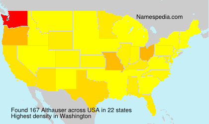 Surname Althauser in USA