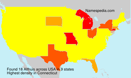 Surname Althuis in USA