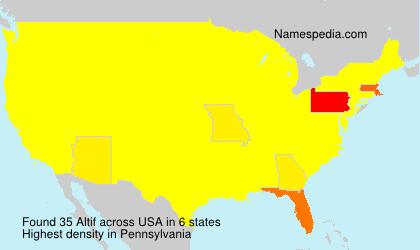 Familiennamen Altif - USA