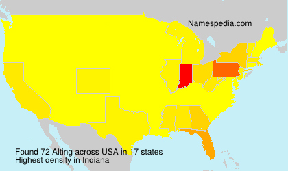 Surname Alting in USA