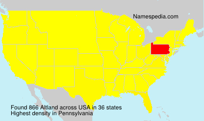 Surname Altland in USA