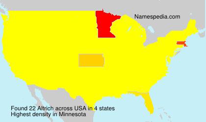Familiennamen Altrich - USA