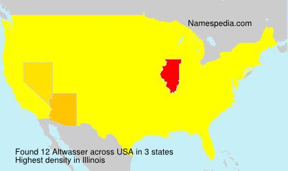 Familiennamen Altwasser - USA