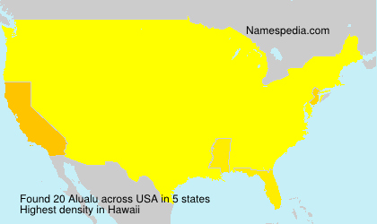Surname Alualu in USA