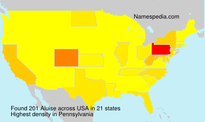 Surname Aluise in USA
