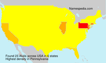 Surname Alulis in USA