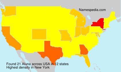 Surname Aluna in USA