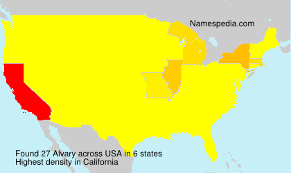 Surname Alvary in USA
