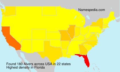 Surname Alvers in USA