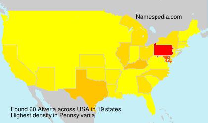 Surname Alverta in USA