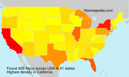 Surname Alyce in USA