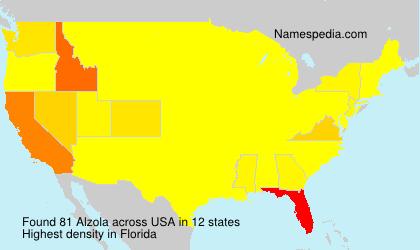 Surname Alzola in USA