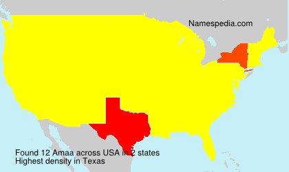 Surname Amaa in USA