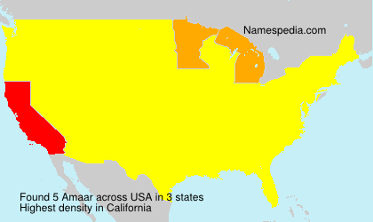 Surname Amaar in USA