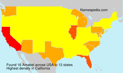Surname Amabel in USA