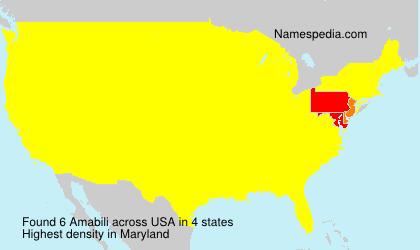 Familiennamen Amabili - USA