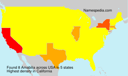 Surname Amabilia in USA