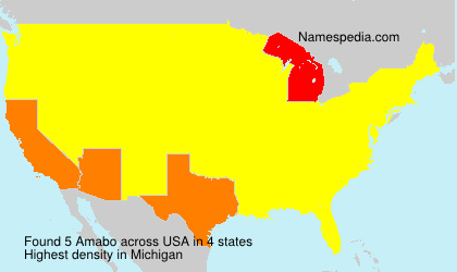 Surname Amabo in USA