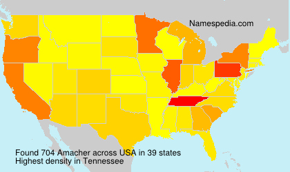 Surname Amacher in USA