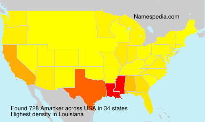 Surname Amacker in USA