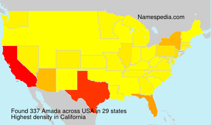 Surname Amada in USA