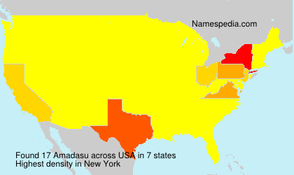 Surname Amadasu in USA